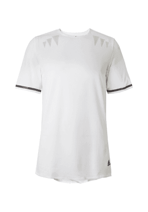 Adidas Sport - Prime Mesh-Panelled HEAT.RDY T-Shirt - Men - White