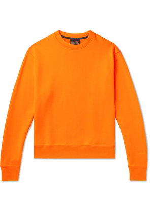 adidas Consortium - Pharrell Williams Embroidered French Cotton-Terry Sweatshirt - Men - Orange