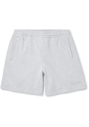 adidas Consortium - Pharrell Williams Embroidered French Cotton-Terry Shorts - Men - Gray