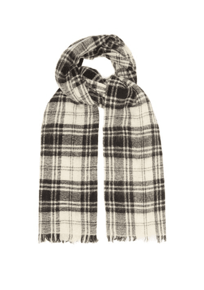 Isabel Marant - Suzanne Check Wool-blend Scarf - Mens - Black Multi