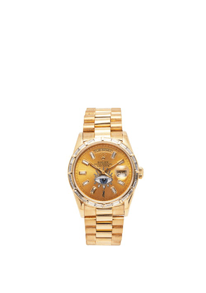 Jacquie Aiche - Vintage Rolex Day-date Diamond & Gold-plated Watch - Womens - Yellow Gold