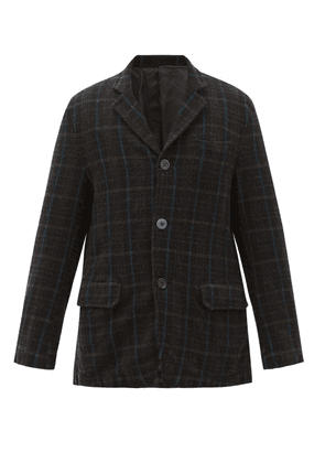 Undercover - Single-breasted Plaid Wool-flannel Blazer - Mens - Black