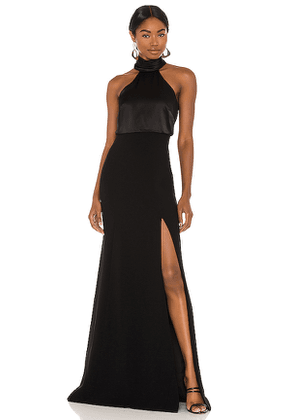 Cinq a Sept Alexandra Gown in Black. Size 4.