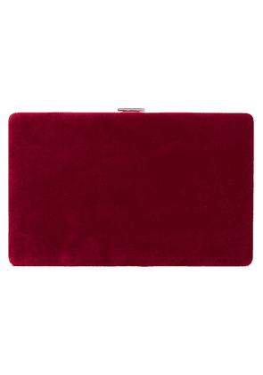 Anya Hindmarch Velvet Clutch Woman Burgundy Size --