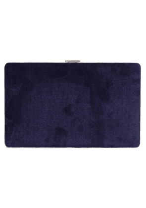 Anya Hindmarch Velvet Clutch Woman Navy Size --