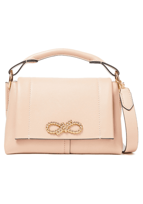 Anya Hindmarch Rope Bow Appliquéd Leather Shoulder Bag Woman Blush Size --