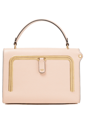 Anya Hindmarch Postbox Small Textured-leather Tote Woman Baby pink Size --
