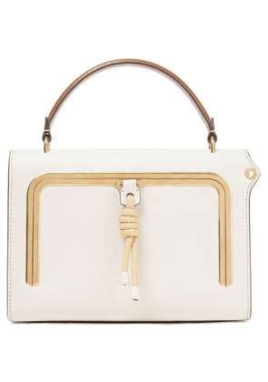 Anya Hindmarch Postbox Textured-leather Tote Woman Off-white Size --