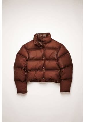 Acne Studios FN-WN-LEAT000091 Rusty brown  Leather puffer jacket