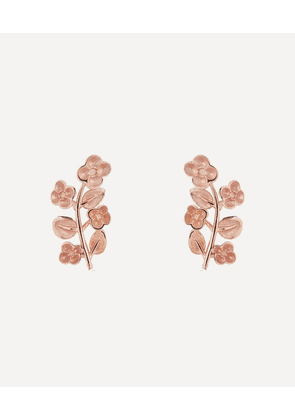 Rose Gold Blossom Stud Earrings