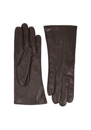 Dents Isabelle Dark Brown Leather Gloves