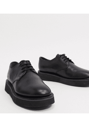 Camper chunky lace up brogues in black