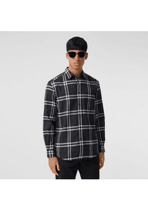 Burberry Vintage Check Cotton Flannel Shirt, Grey