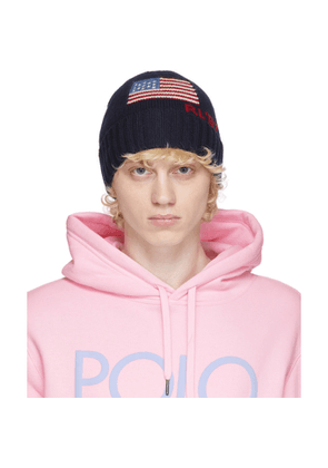 Polo Ralph Lauren Navy Flag Beanie