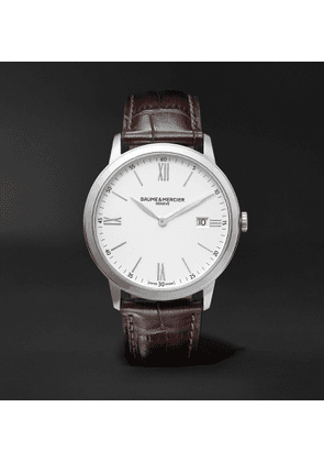 Baume & Mercier - Classima 40mm Steel and Croc-Effect Leather Watch, Ref. No. 10507 - Men - White