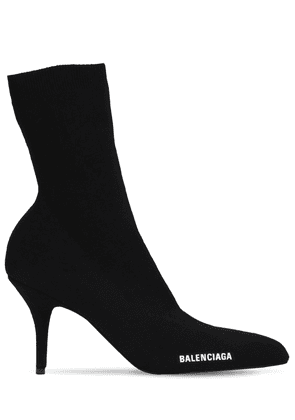 80mm Round Knit Ankle Boots