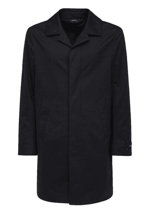 Water Resistant Stretch Wool Coat