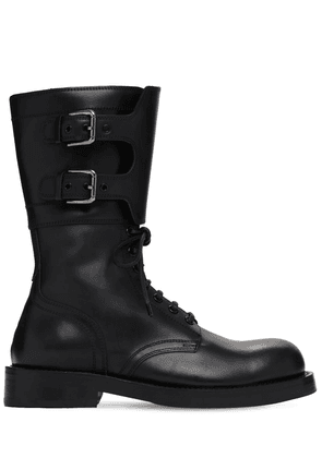 20mm Biker Leather Boots