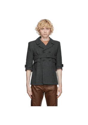 Marc Jacobs Brown and Grey The Shrunken Boys Jacket