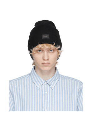 rag and bone Black Addison Beanie