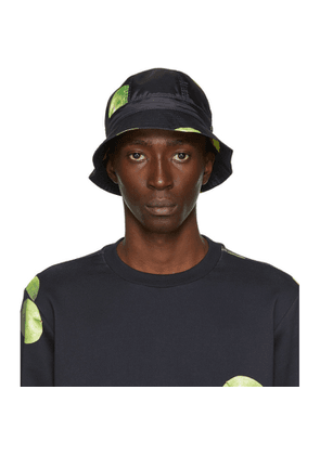 Paul Smith 50th Anniversary Black and Green Apple Bucket Hat