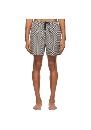 Solid and Striped Black and White The Classic Squiggle Stripe Swim Shorts