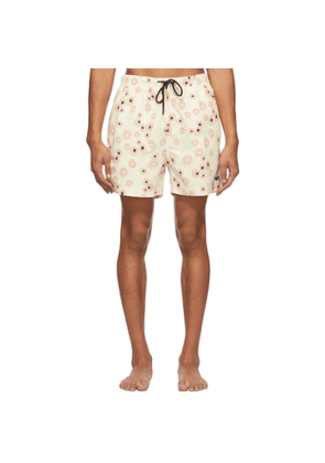 Solid and Striped Off-White The Classic Daisy Swim Shorts
