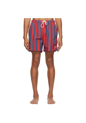 Solid and Striped Red and Blue The Classic Stripe Swim Shorts