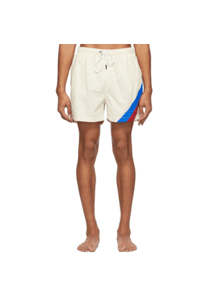 Solid and Striped Off-White The Classic Stripe Swim Shorts