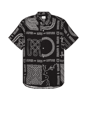 Ksubi Super Nature Short Sleeve Shirt in Black - Black,Abstract. Size M (also in S,L,XL).