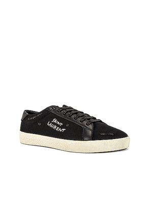 Saint Laurent SL/06 Signa Low Top Sneaker in Black & Black - Black. Size 41 (also in 42,43,44,45).