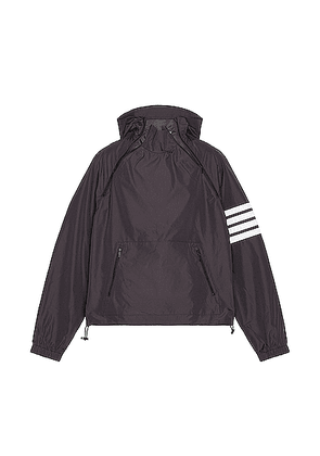 Thom Browne 4 Bar Zip Anorak in Charcoal - Black. Size 1 (also in 2,4).