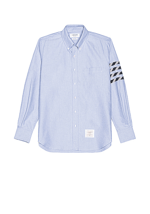 Thom Browne 4 Bar Button Down Long Sleeve Shirt in Light Blue - Blue. Size 1 (also in 2,3,4).