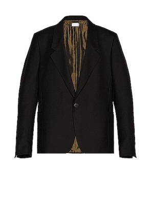 Fear of God Exclusively for Ermenegildo Zegna Single Breasted Jacket in Black - Black. Size 44 (also in 46,48,50,52,54).