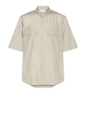 Fear of God Exclusively for Ermenegildo Zegna Oversized Short Sleeve Shirt in London Fog - Neutral. Size L (also in XS,M).