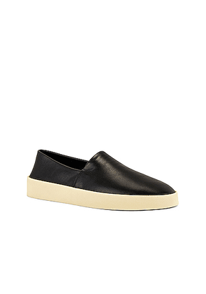 Fear of God Exclusively for Ermenegildo Zegna Calf Leather Espadrille in Black - Black. Size 10 (also in ).