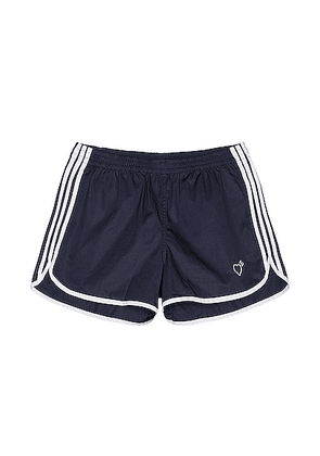 adidas x HUMAN MADE Running Short in Collegiate Navy - Blue. Size L (also in M,S).