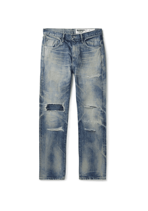 Neighborhood - Claw Mod Savage Slim-Fit Distressed Embroidered Denim Jeans - Men - Blue