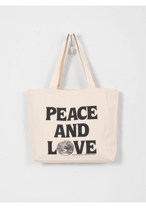 Stüssy Peace and Love Canvas Tote Bag Natural