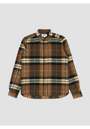 You Must Create Wool Check Curtis Shirt Olive