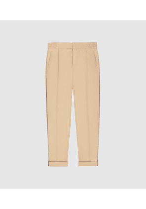 Reiss Salmon - Casual Trousers With Side Stripe in Tan, Mens, Size 28