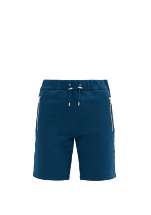 Balmain - Logo-embossed Cotton Shorts - Mens - Navy