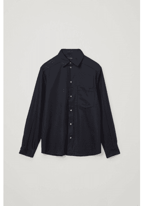 RECYCLED WOOL MIX CONSTRUCTED PANEL SHIRT