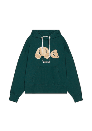 Palm Angels Bear Hoodie in Green. Size L,XL.