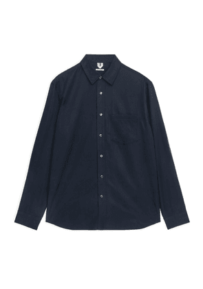 Fluid Lyocell Shirt - Blue