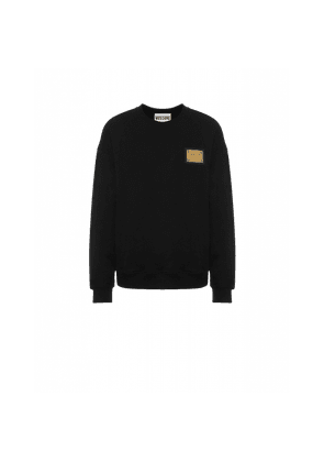 Cotton Sweatshirt Metal Label