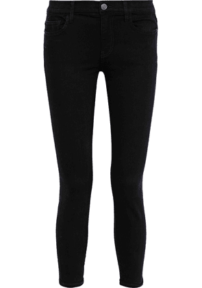 Current/elliott The Stiletto Ankle Low-rise Skinny Jeans Woman Black Size 30