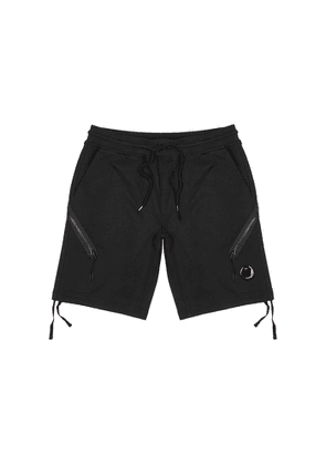 C.P. Company Black Cotton Shorts