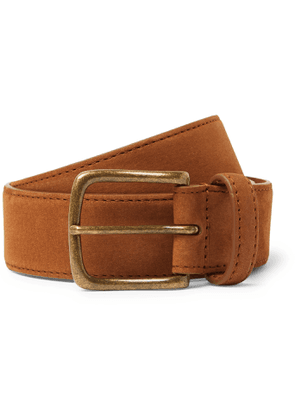 Anderson & Sheppard - 3.5cm Suede Belt - Men - Brown
