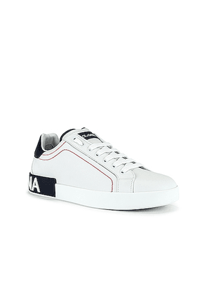 Dolce & Gabbana Low Top Sneaker in White & Blueberry - White,Blue. Size 40 (also in 44,45).